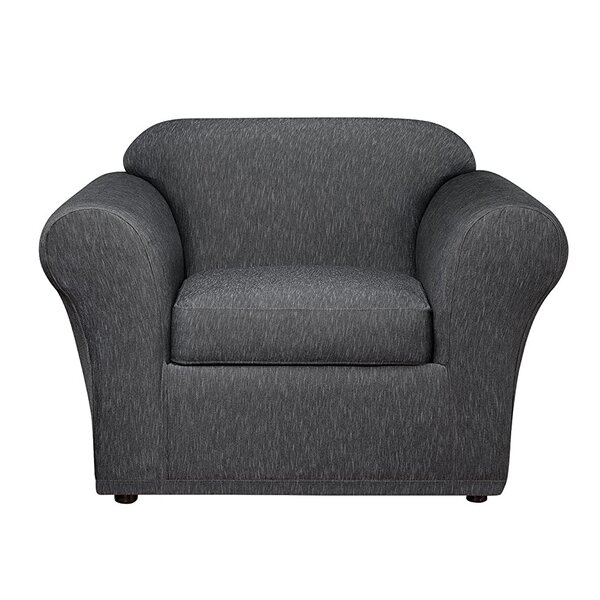 Contrast Denim Furniture Box Cushion Loveseat Slipcover By Sure Fit