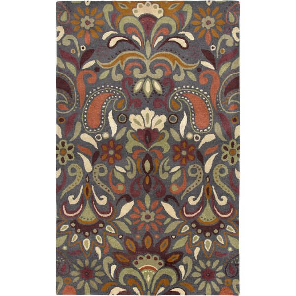 Melford Hand-Tufted Light Gray/Green Area Rug by Meridian Rugmakers
