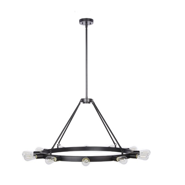 Melillo 12 - Light Unique Wagon Wheel Chandelier By 17 Stories