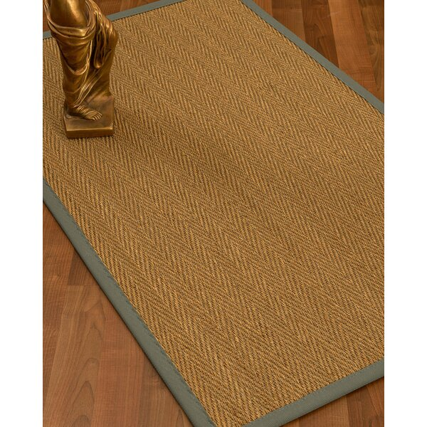 Mahaney Border Hand-Woven Beige Area Rug by Gracie Oaks