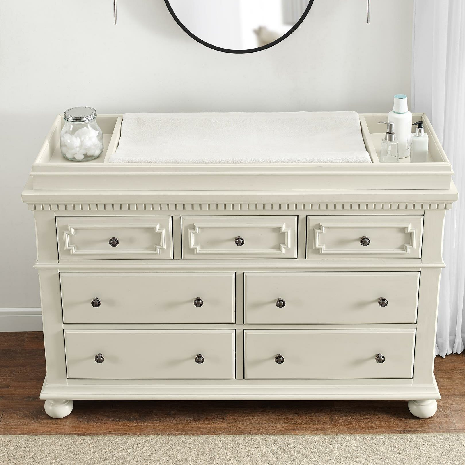 en collection cotton ip table shore south canada dresser changing walmart candy grey