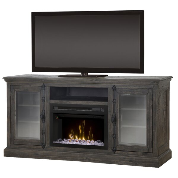 Open Storage Space 68 TV Stand with Fireplace by Dimplex