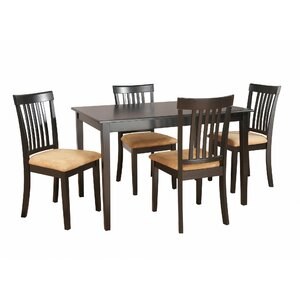 Oneill Modern 5 Piece Upholstered Dining Set
