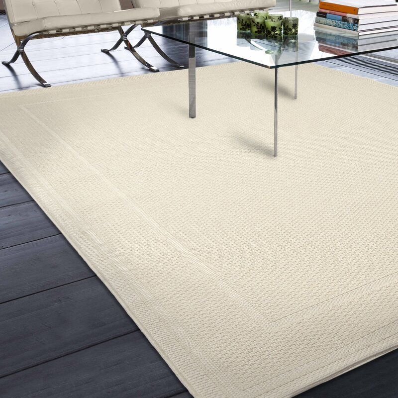 Three Posts Acton Ivory Solid Indoor/Outdoor Area Rug & Reviews ...