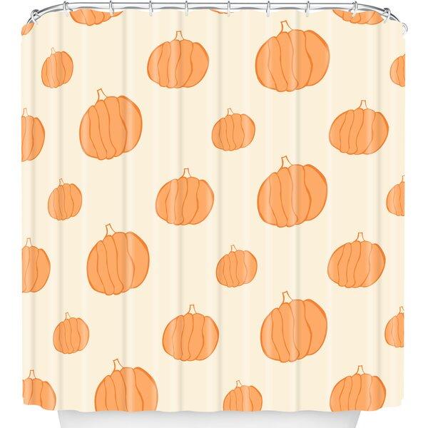 Pumpkins Shower Curtain by East Urban Home