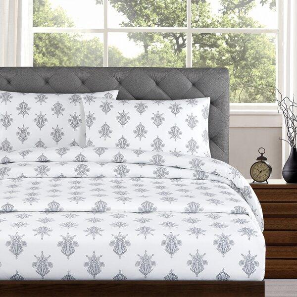 Arwen 250 Thread Count Cotton Percale Sheet Set by Echelon Home