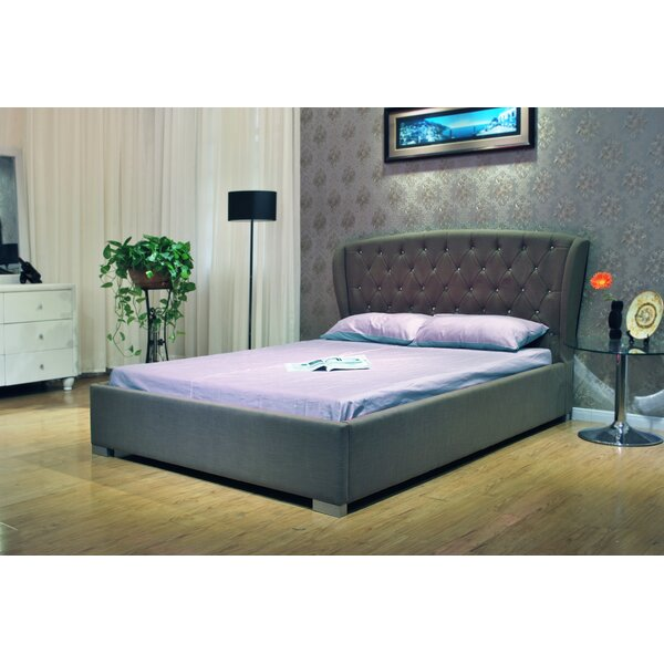 Drucilla Queen Upholstered Standard Bed by Charlton Home