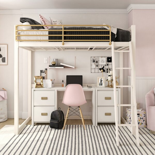 Ludie Metal Twin Loft Bed By Greyleigh by Greyleigh Today Only Sale