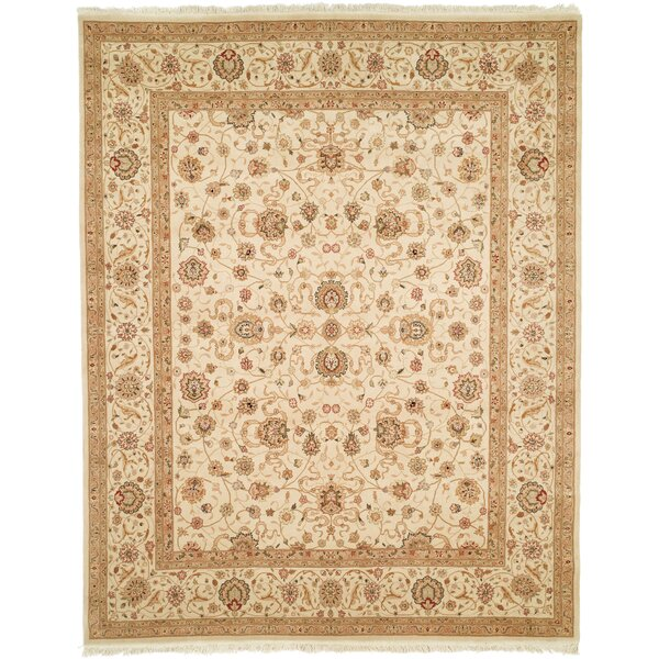 Everest Hand-Woven Beige Area Rug by Canora Grey