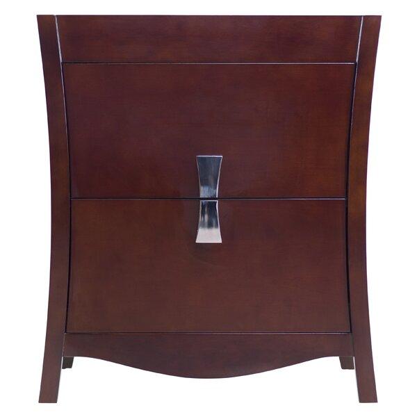 Karter Modern Birch Wood-Veneer 30 Bathroom Vanity Base Only