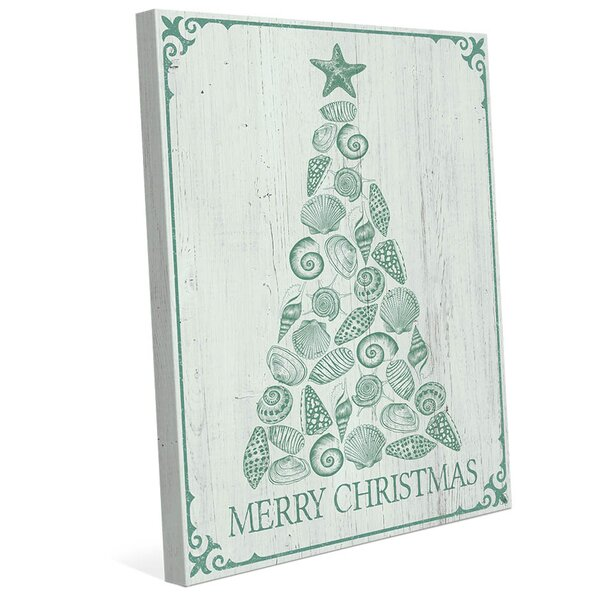 Shellmas Tree Leaf Wood Graphic Art On Wrapped Canvas By Click Wall Art.