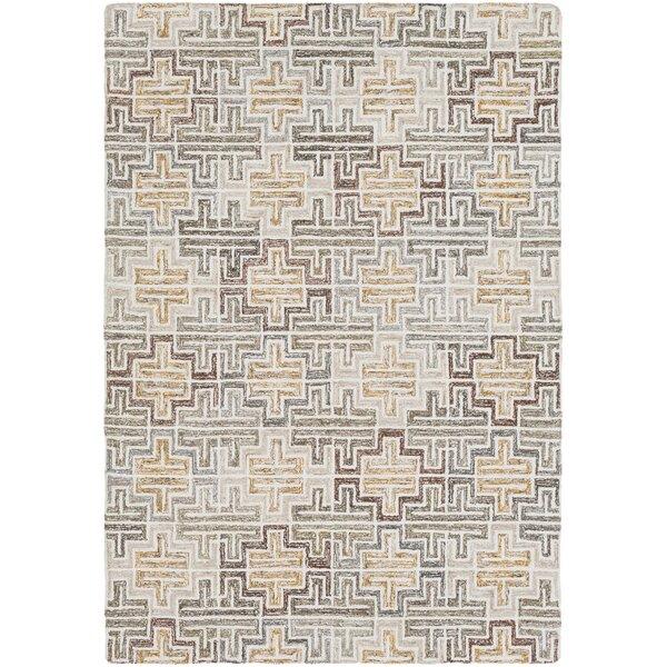 Charboneau Hand-Tufted Cream/Khaki Area Rug by George Oliver