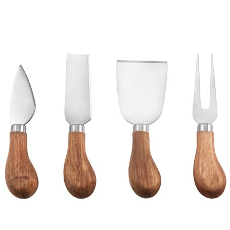 Farmhouse 4 Piece Gourmet Cheese Knives Set by Twine