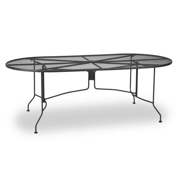 Oval Mesh Dining Table by Meadowcraft