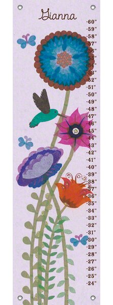 Hummingbird Garden - Personalized Canvas Growth Chart by Oopsy Daisy