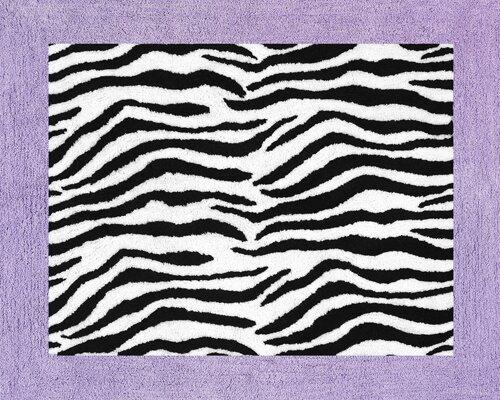 Zebra Floor Purple Area Rug by Sweet Jojo Designs