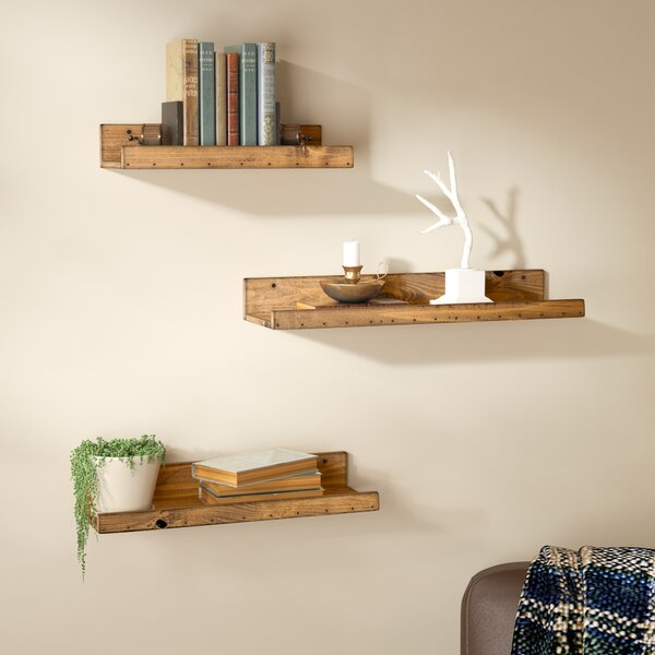 Dunlap Rustic 3 Piece Floating Shelf Set by Union Rustic