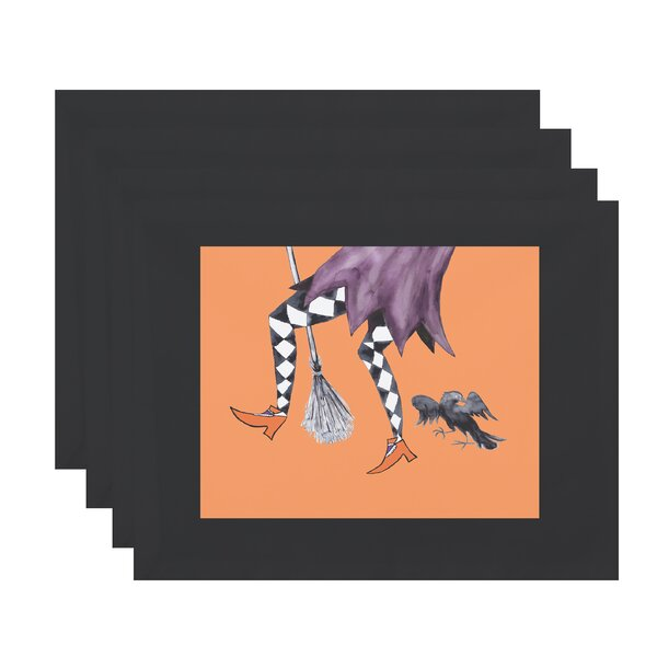 Maser Fly Away Halloween 18 Placemat (Set of 4) by The Holiday Aisle