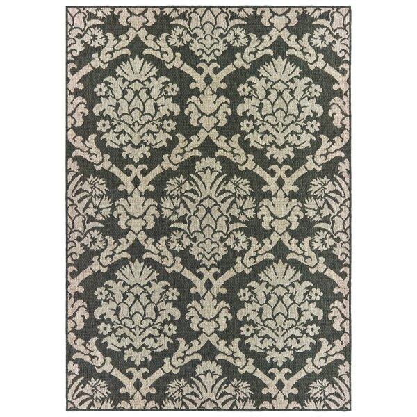 Berryville Floral Gray/Charcoal Indoor/Outdoor Area Rug