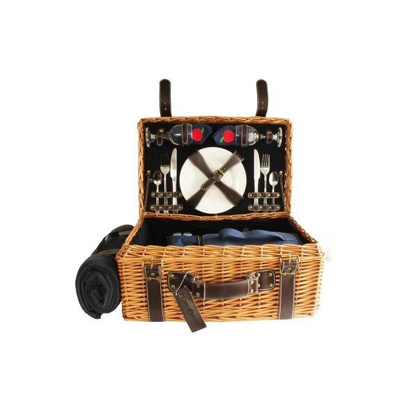 Willow Picnic Basket with Blanket by Freeport Park