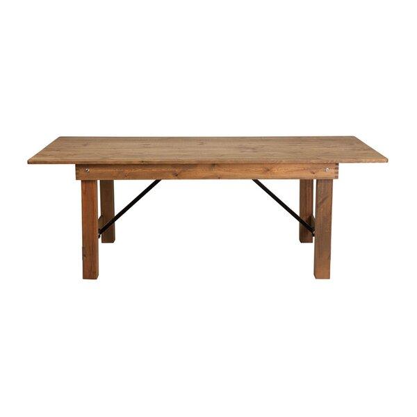 Silsden Folding Farm Dining Table By Loon Peak