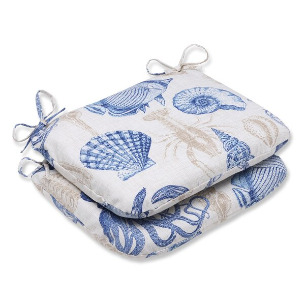 Sealife Indoor/Outdoor Seat Cushion (Set of 2) by Pillow Perfect