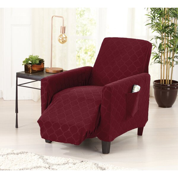 Geometric Jacquard Box Cuhion Recliner Slipcover by Red Barrel Studio