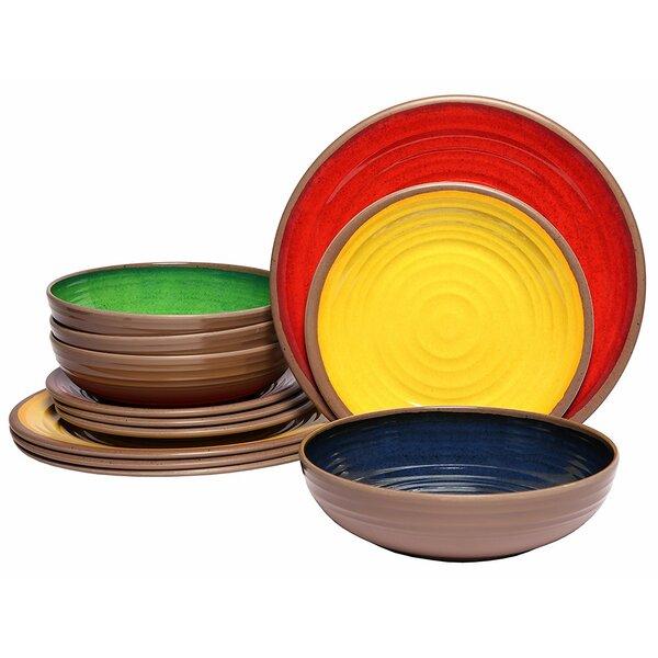 Sharice 36 Piece Dinnerware Set, Service for 12 by Bloomsbury Market