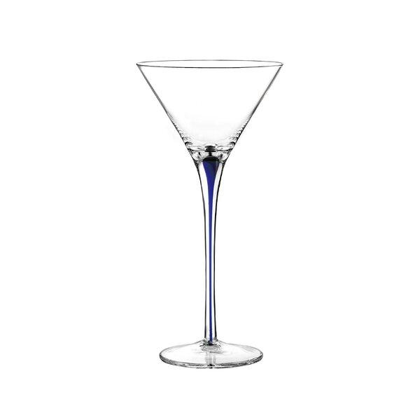 Tempest Cobalt Martini Glass (Set of 4) by Qualia Glass
