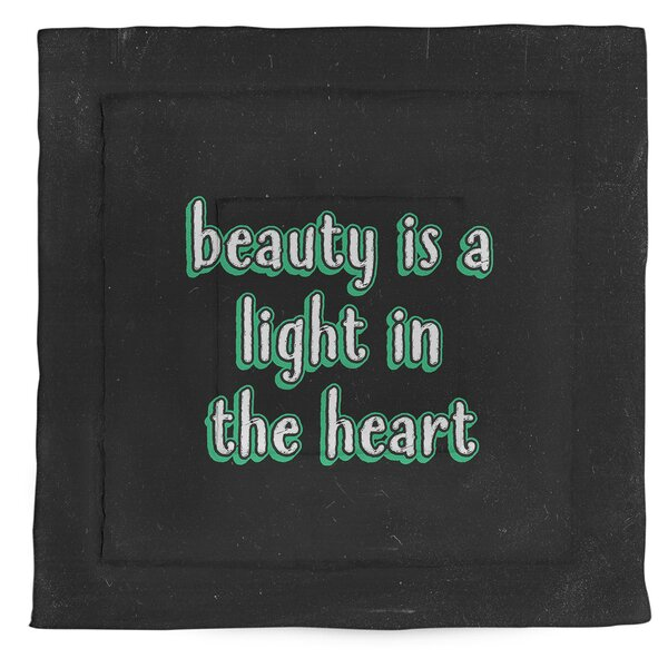 Beauty Inspirational Quote Single Reversible Comforter