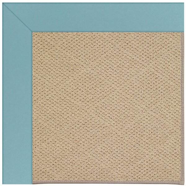Lisle Machine Tufted Bright Blue/Brown Indoor/Outdoor Area Rug by Longshore Tides