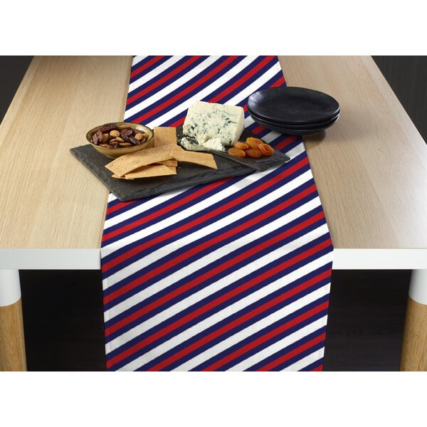 Espinoza Nautical Diagonal Stripe Milliken Signature Table Runner by Breakwater Bay
