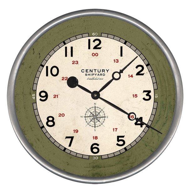 Woodsetter Century Shipyard Wall Clock by Breakwater Bay