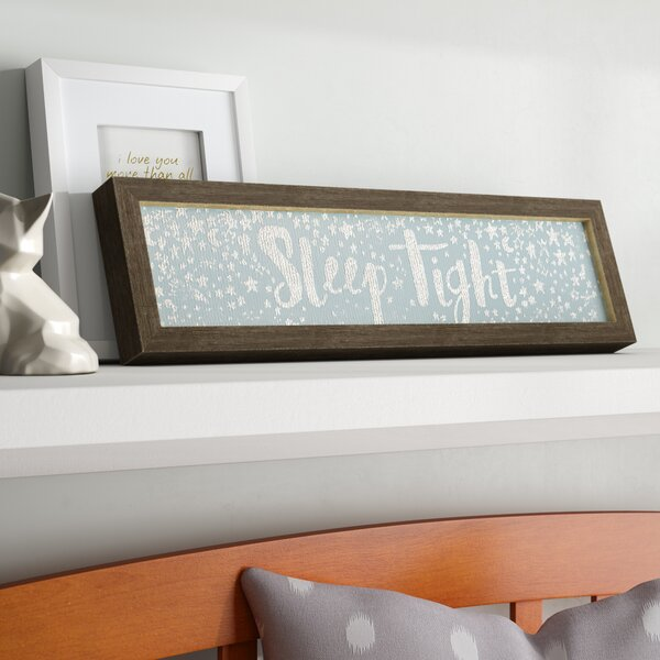 Bower Sleep Tight Embellished Stretched Wood Framed Canvas Art by Harriet Bee