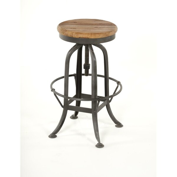 Ramsell Adjustable Height Swivel Bar Stool By Williston Forge