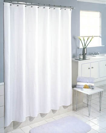 White Waffle Shower Curtain symple stuff cotton waffle weave shower curtain & reviews | wayfair