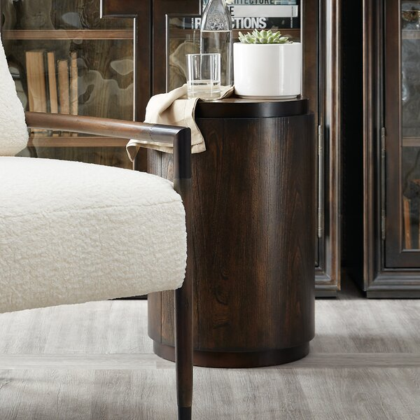 Crafted Drum End Table By Hooker Furniture
