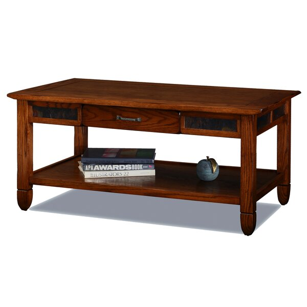 Atkinson Solid Wood Coffee Table With Storage By Loon Peak