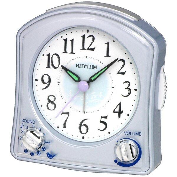 Silver Robin Alarm Clock by Rhythm U.S.A Inc