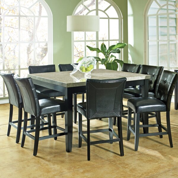 Chloe 9 Piece Counter Height Dining Set by Latitude Run