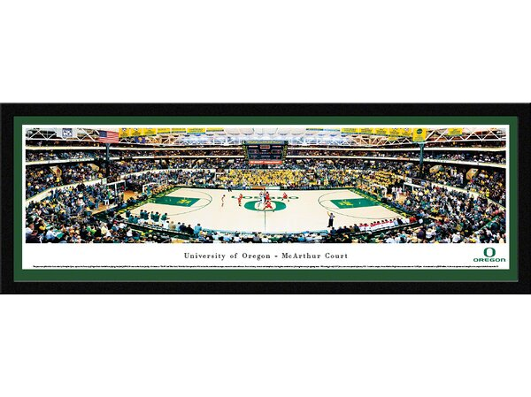 NCAA Oregon, University of - Mac Court by Christopher Gjevre Framed Photographic Print by Blakeway Worldwide Panoramas, Inc