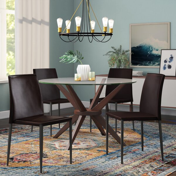 Leistner Upholstered Dining Chair (Set of 4) by Orren Ellis