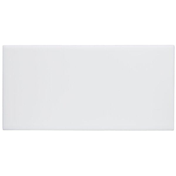 Berkeley 4 x 8 Ceramic Subway Tile in Matte Arctic White by Itona Tile