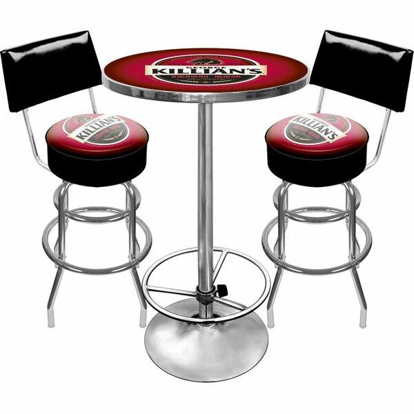 Killians Beer Game Room 3 Piece Pub Table Set by Trademark Global Trademark Global