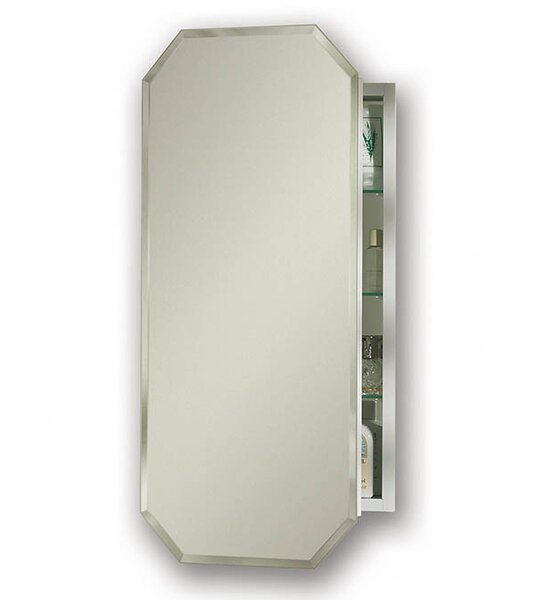 Metro 15.125 x 31.25 Recessed or Surface Mount Medicine Cabinet by Jensen