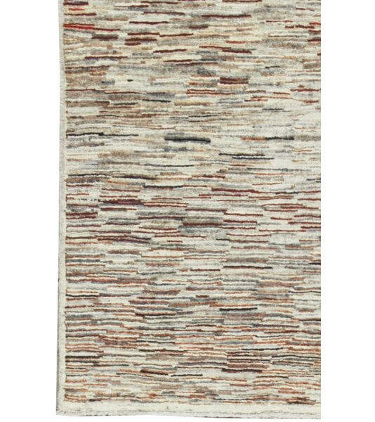 One-of-a-Kind Afghan Gabbeh Hand-Knotted Wool Cream Area Rug by Bokara Rug Co., Inc.