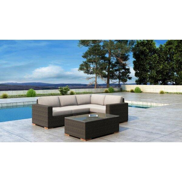 Glen Ellyn 5 Piece Sectional Set with Sunbrella Cushion by Everly Quinn