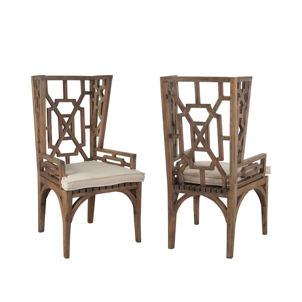 Windham Teak Patio Dining Chair (Set of 2) by Gracie Oaks