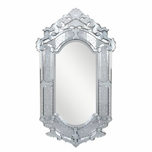 Rosdorf Park Danyel Arch/Crowned Top Clear Wall Mount Mirror