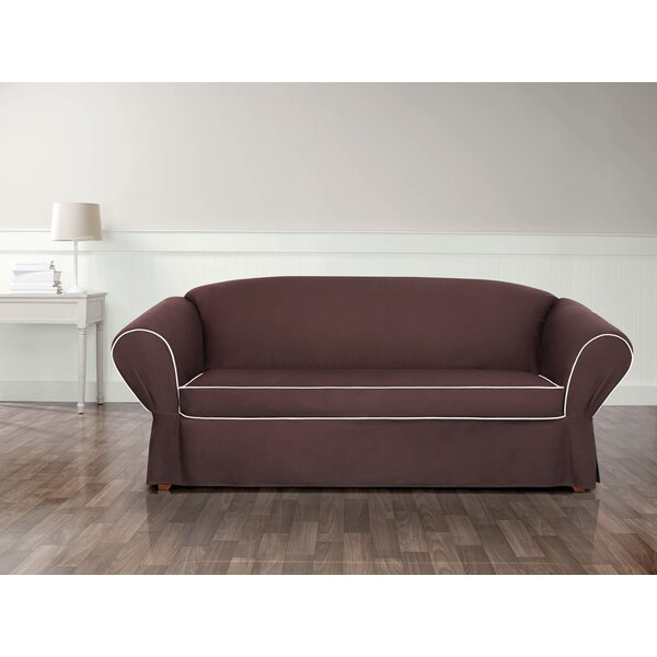 Tailored Box Cushion Sofa Slipcover by Sure Fit